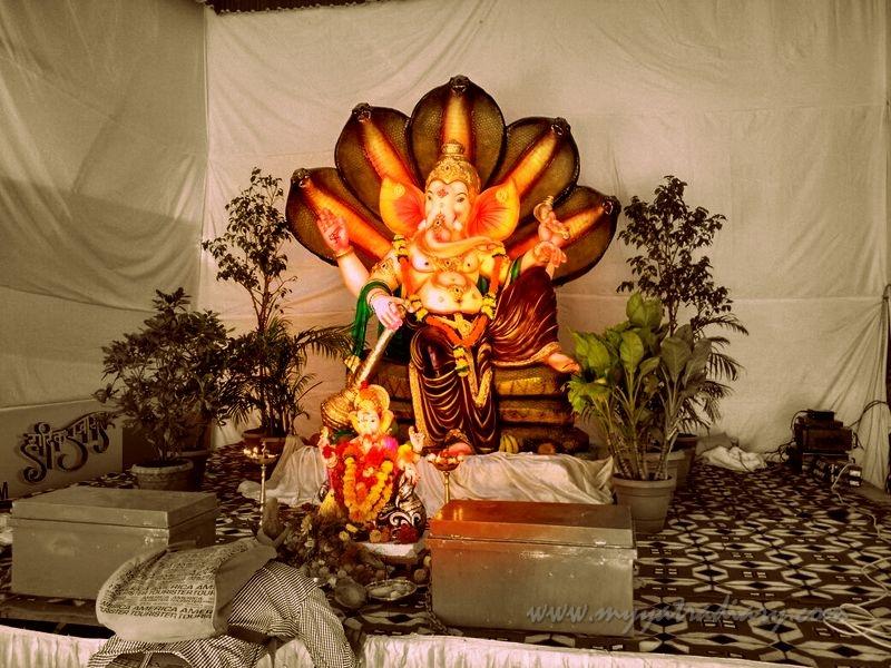 Ganesha in Vighnaraja avatar, Ganesh Chaturthi Mumbai Pandal Hopping