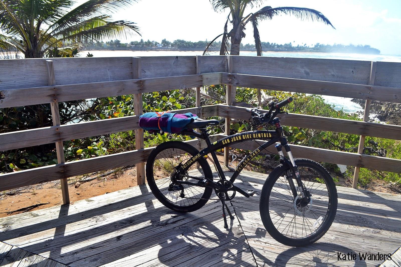 Katie Wanders Biking The Boardwalk Pinones Puerto Rico