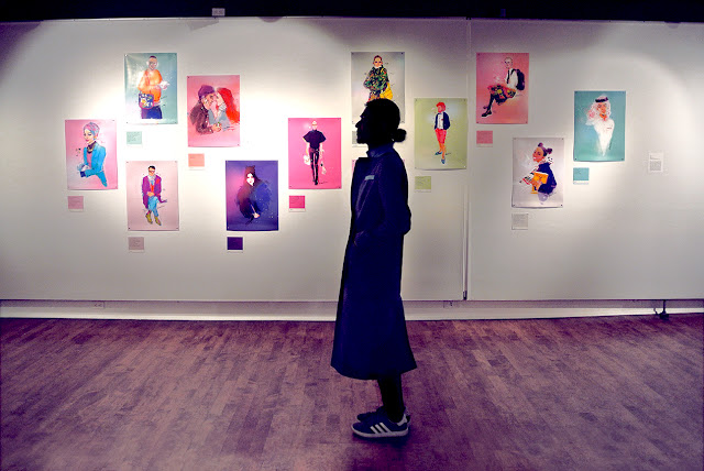 Montrealer Portraits, exhibition view, multicultural colours