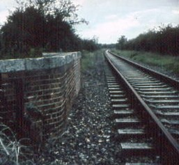 Track on top of Newgate Lane Bridge