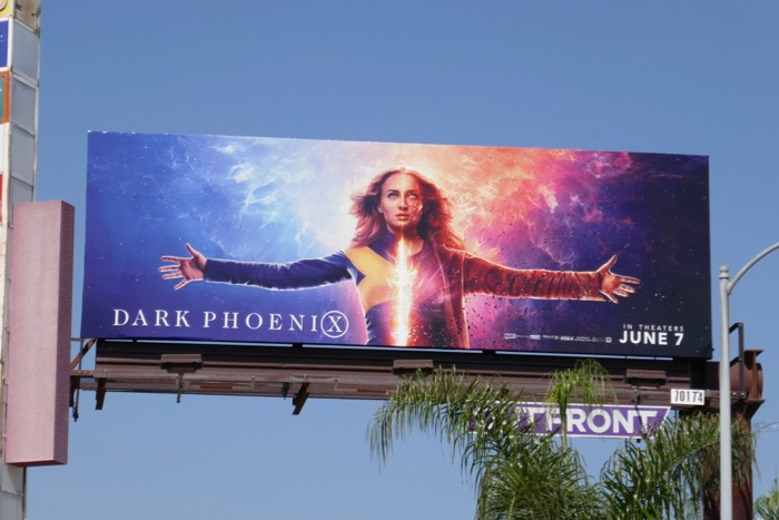 Sophie Turner Dark Phoenix billboard