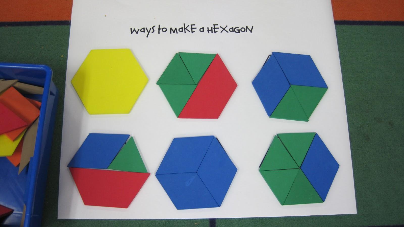 Kindergarten Superkids Ways To Make A Hexagon