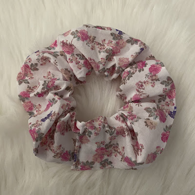 loveshackfancy floral hair scrunchie