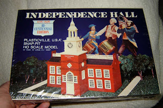 Vintage 1976 Plasticville Independence Hall still sealed in the original box.