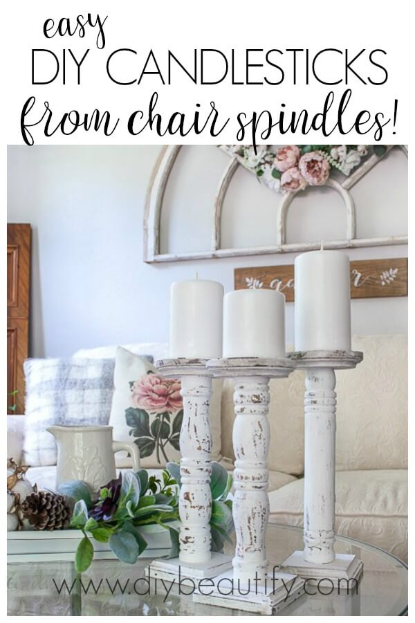 cheap DIY farmhouse candlesticks