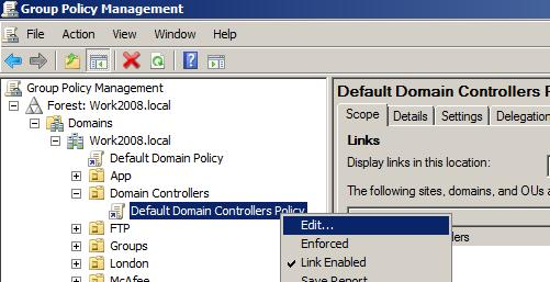How to enable Active Directory Change Events