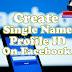 HOW TO CREATE SINGLE NAME PROFILE ID ON FACEBOOK