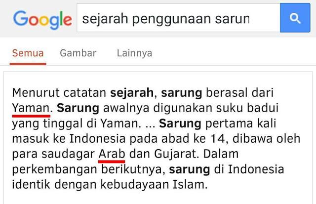 HAYOLOH.. Sarung Ternyata Bukan Budaya Nusantara Tapi Arab, ISLAM NUSANTARA Kok Sarungan