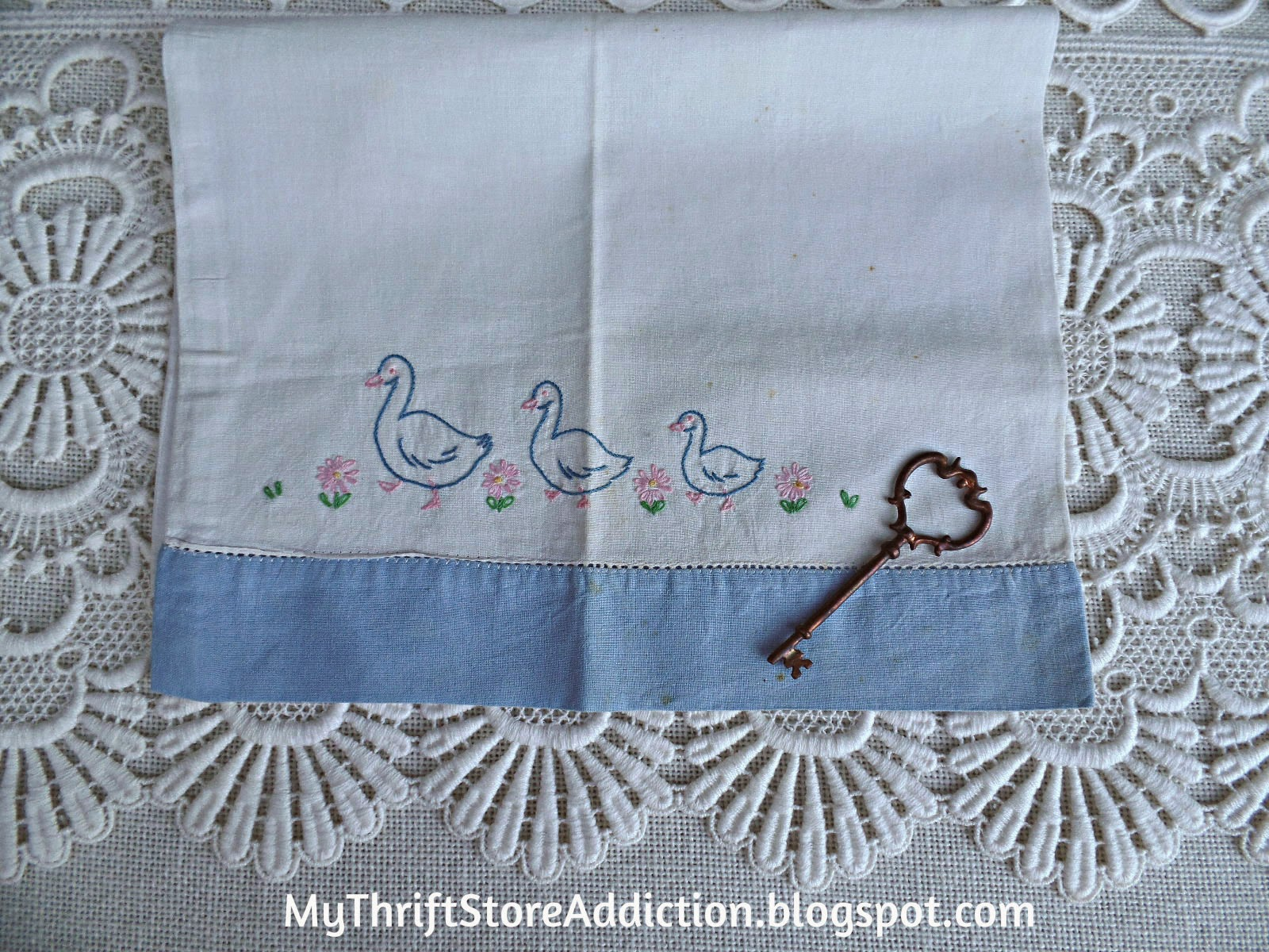 Vintage baby pillowcase