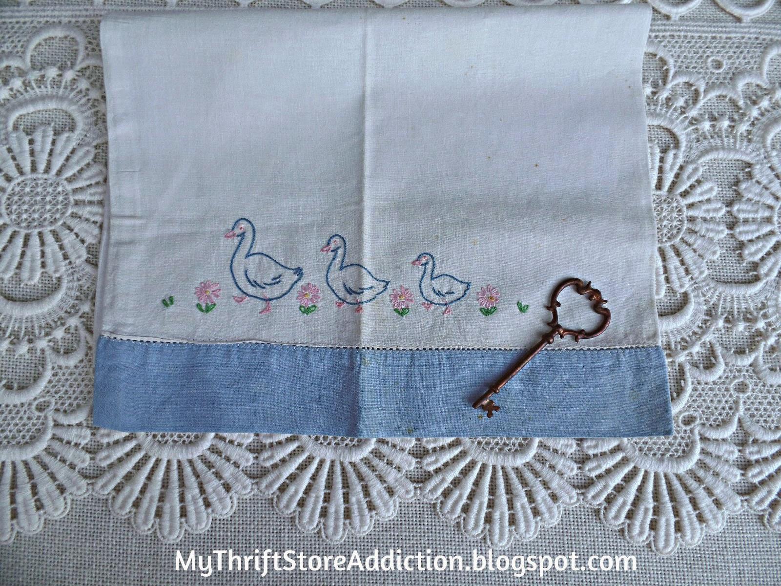 Vintage baby pillowcase
