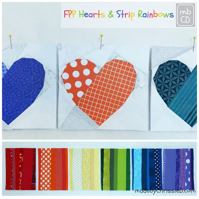 #QuiltsForPulse FPP Hearts Rainbow Stash Buster
