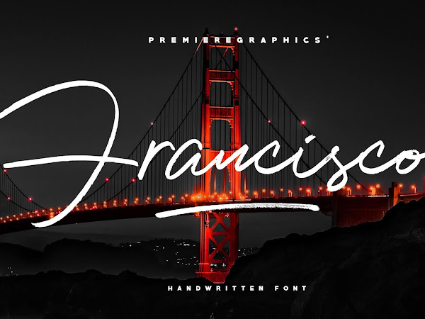 Francisco Realistic Pen Texture Font Free Download