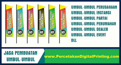 Contoh Desain UMBUL UMBUL Dari Percetakan Digital Printing Terdekat