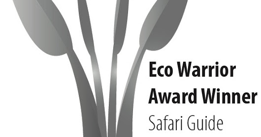 Celebrating being the Eco-Warrior best guide of the year (2016) award