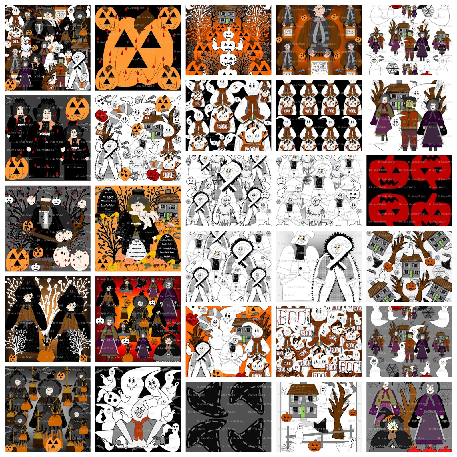 Halloween Fabric Designs Collection