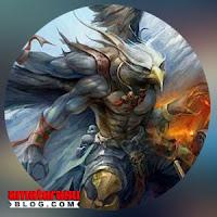 Gambar ilustrasi makhluk mitologi Garuda.