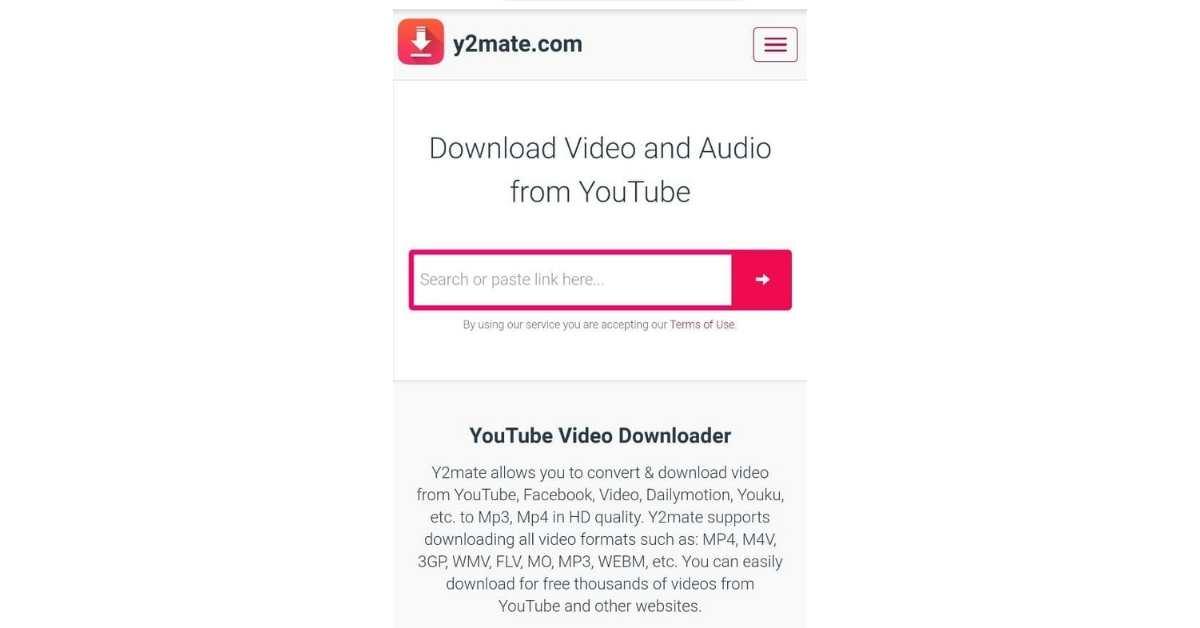 طريقة استخدام موقع y2mate الذكي