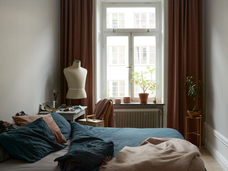 Dormitorio de estilo clásico y vintage