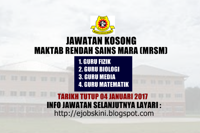 Jawatan Kosong MRSM