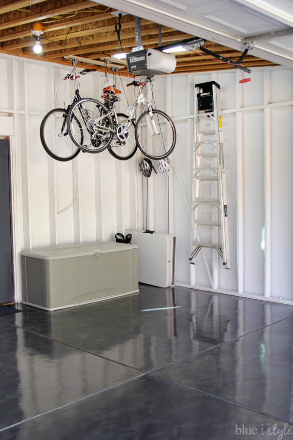Hang bikes from the garage ceiling hang ladder