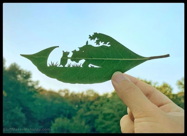 Impressive Scenes by Cutting Leaves of Trees