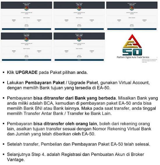 Cara Daftar EA50,Cara Daftar EA-50