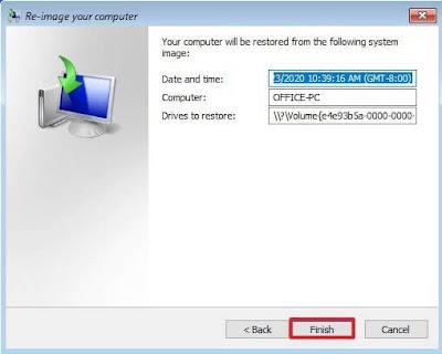 خطوات عمل نسخة احتياطية لجميع أنظمة الويندوز windows 10/8/7/xp