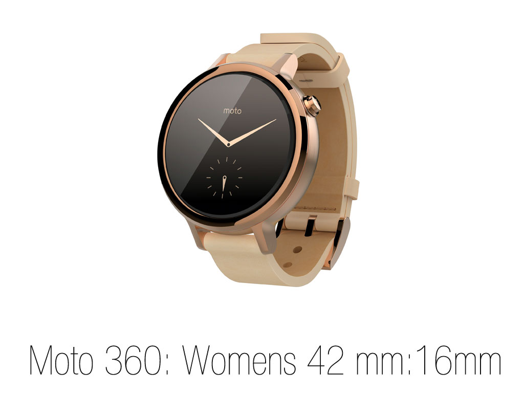 Moto 360 Womens size 42mm :16mm