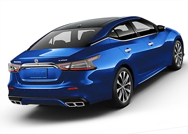 nissan-maxima-platinum-2020-rear-exhaust-taillights-Deep-Blue-Pearl