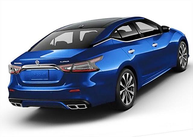 nissan-maxima-platinum-2020-rear-exhaust-taillights-Deep-Blue-Pearl