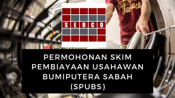 Permohonan Skim Pembiayaan Usahawan Bumiputera Sabah (SPUBS)
