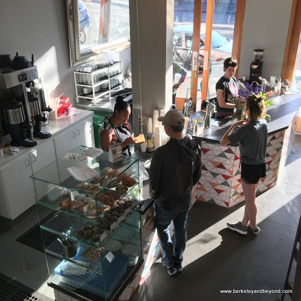 order counter at Wrecking Ball Coffee Roasters in Berkeley, California