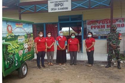 Komos: Babinsa Koramil 1012-010/Kota Mengajak Warga Binaan Membaca Dan Sosialisasi Protokol Kesehatan 5M