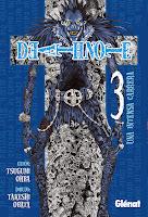 portada del tomo 3 del cómic manga de fantasía y suspense Death note