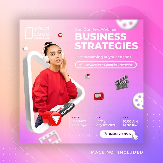 Streaming Business Workshop Social Media Post Instagram Template 2