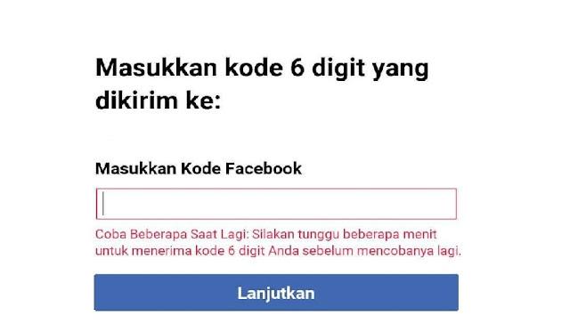 3 Solusi Kode 6 Digit Facebook Untuk Konfirmasi Tidak Masuk