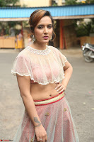 Aafia Bhardwaj looks stunning in transparent pink small choli chunni ghargra at launch of India Silk Expo ~ Exclusive Celebrity Galleries 139.JPG