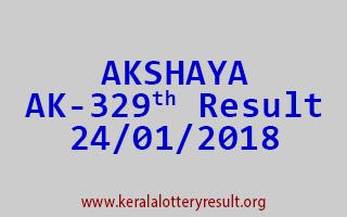 AKSHAYA Lottery AK 329 Results 24-01-2018