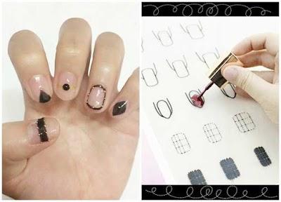 Manicura fabrica tus propios stickers en un mantel con tu tipo de uña