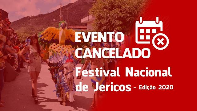 Cancelada edição do Festival Nacional de Jericos