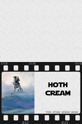 Free Printable Star Wars Party Food Label Hoth Cream (Ice Cream)