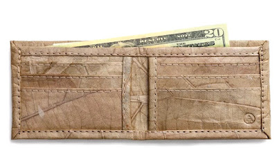 Leaf Leather Bifold Wallet - Natural