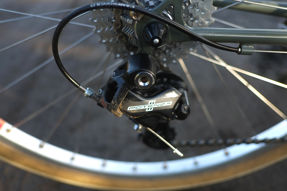 309aaf1a414 The Potenza derailleur accommodates cogs up to 32t, and my cassette is  11-32t. The levers and derailleurs and chainrings all play together  perfectly. I have ...