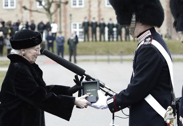 Queen Margrethe presented the Queen`s Watch at a military parade