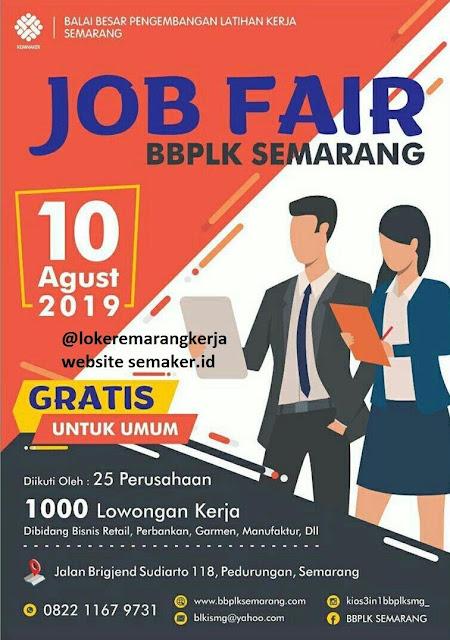 Job Fair BBPLK Semarang Bulan Agustus 2019