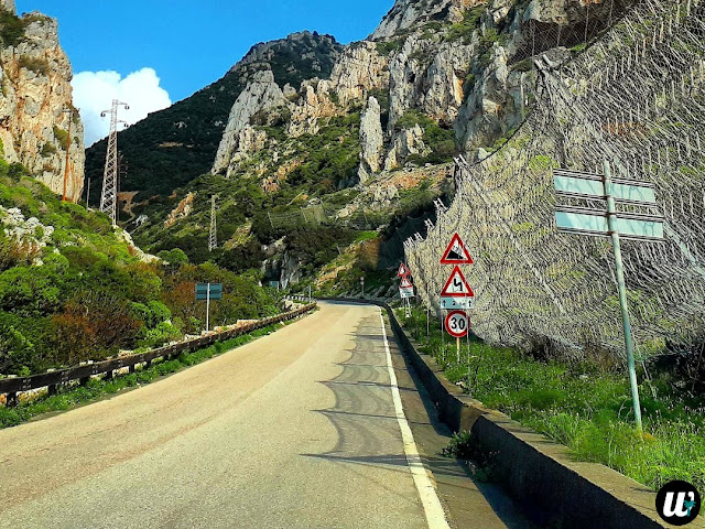 View on the steep mountain road, driving | Sardinia, Italy | wayamaya