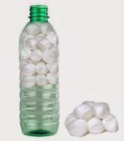 Purificación de agua con algodones y botella de plástico