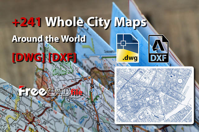 +241 Maps of Cities Around the World [DWG] [DXF]