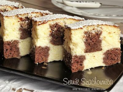 Sernik szachownica - kuchnia podkarpacka