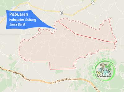 PETA : Kecamatan Pabuaran, Kabupaten Subang, Jawa Barat